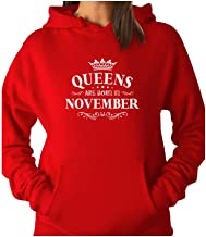TeeStars - Birthday Gift for Women - Queens are Born in November Women Hoodie