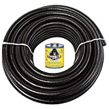 HYDROMAXX (3' Dia. x 10 ft) Black Flexible PVC Pipe, Hose and Tubing for Koi Ponds, Irrigation and Water Gardens. Includes Free 4oz Can of Hot Blue PVC Gorilla Glue