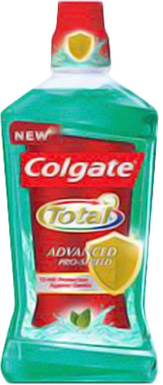削るサリー合法Colgate 高度なプロシールドうがい薬、スペアミント500ミリリットル(7パック)をサージ 7のパック