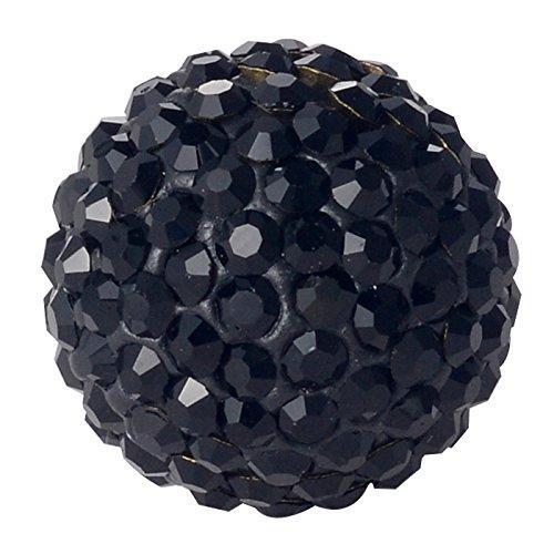 Morella® Damen Engels Klangkugel Zirkonia schwarz Ø 16 mm