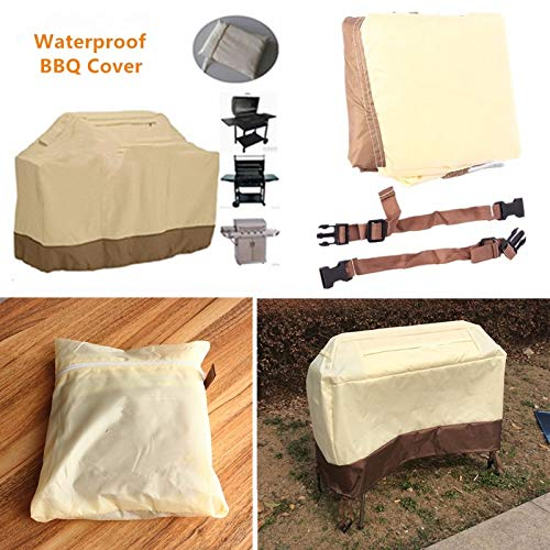 Edumarket241 7 Sizes Waterproof BBQ Grill Barbeque Cover Outdoor Rain Grill Anti Dust Heavy Protector for Gas Charcoal Electric Barbe