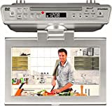 Sylvania 10' Under Cabinet Counter Kitchen TV with Built in CD/DVD Player, HDMI,...