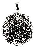 Kiss of Leather colgante Odin con cuervos de 925plata nº 349