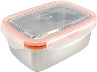 Mighty Hippo RECTANGLE 不锈钢食品容器(尺码:L 码)- 适合大型午餐(防漏/洗碗机清洗/可重复使用/食品*/金属/BPA)