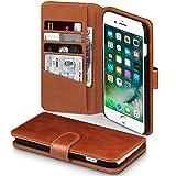 TERRAPIN Coque Cuir iPhone 8 Plus/iPhone 7 Plus, Étui Housse en Cuir Véritable pour...