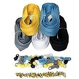 DOITEM Cremallera continua de nailon de 2,8 mm, 14 metros, con tirador y cremallera, 5 colores