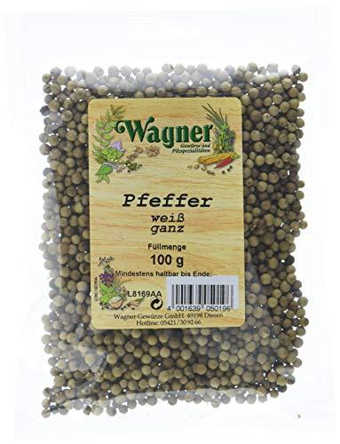Wagner Gewürze Pfeffer weiß ganz, 2er Pack (2 x 100 g)