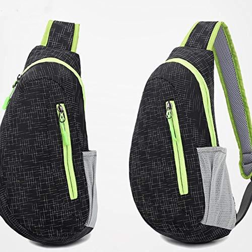 Kaper Go Bolsa De Bicicleta De Montaña Bolsa Delantera Mochila Diagonal Bolsa Cruzada Equitación Deportes Personalidad Moda Bolsa Impermeable (Color : Black)