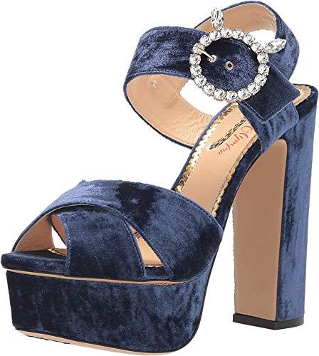 charlotte olympia Bejewelled Aristocat Midnight Blue Velvet 37 (US Women's 7) M
