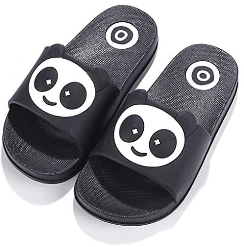 Chanclas de playa Zapatos de Piscina Panda para Niña Niño Sandalias Verano Antideslizante Zapatillas de Baño Casa Hombre Mujer Negro 22/23