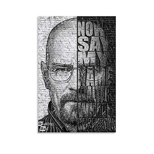 DSGFR Heisenberg 3D-Text-Poster, klassisches Filmposter, dekoratives Gemälde, Leinwand, Wandkunst, Wohnzimmer, Poster, Schlafzimmer, Malerei, 30 x 45 cm