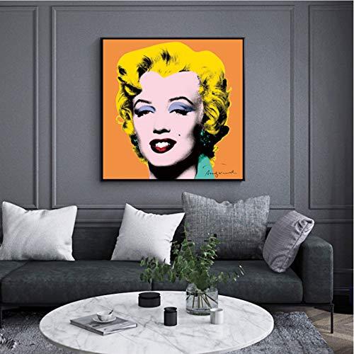 Hao Sai's shop Cartel Andy Warhol Imagen Marilyn Monroe Mujeres Sexy Impresiones Lienzo Pintura Arte De La Pared Imágenes para La Sala Cuadros Decoración para El Hogar B21 40X50Cm Sin Marco