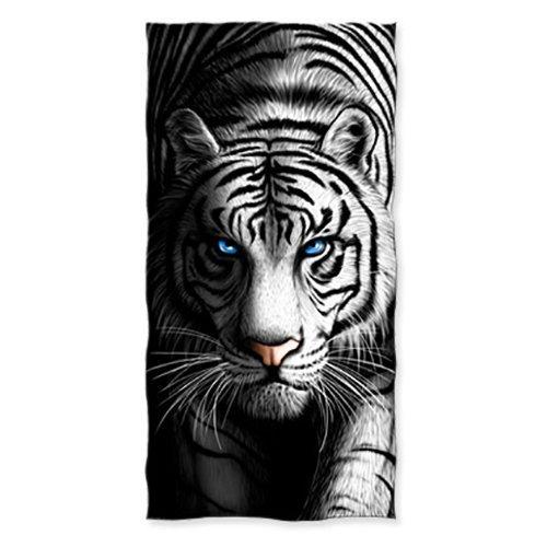 YISUMEI - Toalla de Ducha o Playa (70 x 140 cm), diseño de Tigre Blanco