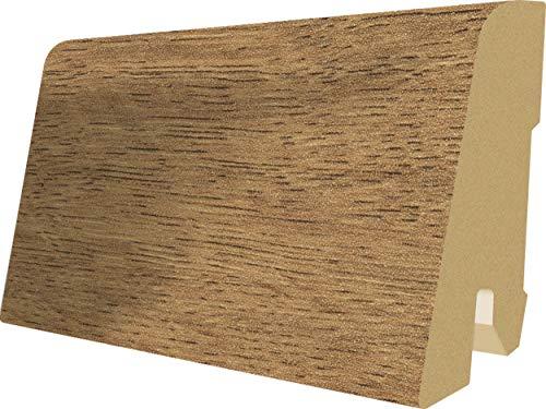 EGGER Home Sockelleiste braun L327 Fußleiste   Bodenleiste 2,4m passt zu EHL041 Eiche Trilogie natur