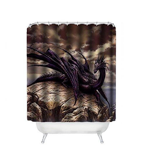 Dalliy Brauch Drachen Dragon Wasserdicht Polyester Shower Curtain Duschvorhang 167cm x 183cm