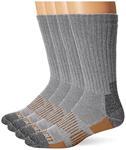 Carhartt Men's All-Terrain Boot Socks, Grey, Pack of 6