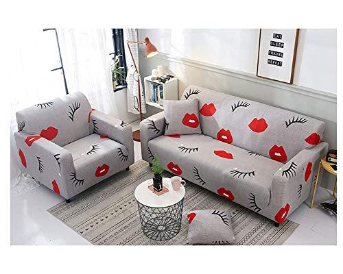 ZIXING Fashion Funda de sofá Tejido Elástico Sofá Proteger Cubierta de Sofá Funda Decorativa 1/2/3 Plazas,Estampado de Moderno y Simple 1 45 * 45cm(Funda de Almohada)