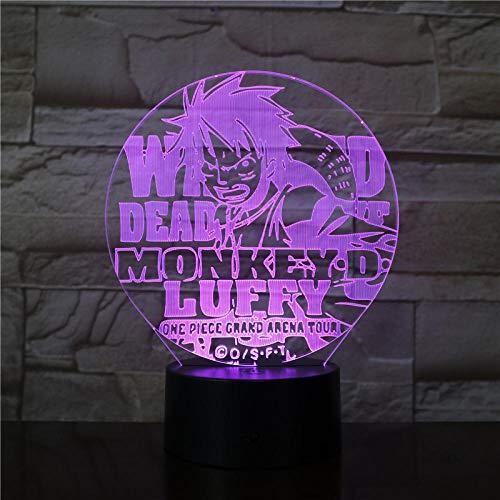 HXFGL Luz de noche 3D Tema de dibujos animados 7 colores luz nocturna lámpara de mesa LED luz del sueño para niños decoración de la sala de estar El mejor regalo exquisito para niños