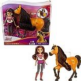Spirit L'indomptable, poupée articulée Lucky et figurine cheval Spirit à longue crinière pour rejouer les scènes du film, jouet pour enfant, GXF21
