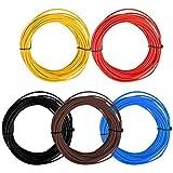 TIMESETL 5 Piezas 1.5 mm² FLRY-B Hilo électrique 5 x 10 m Câble électrique véhicule