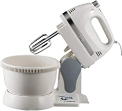 Greawei@ Electric Standing Mixer, Plastic Multi-function Barrel-type Dough Mixer 350W High Power Eggbeater Efficient and convenient (Color : White, Size : 311933cm)