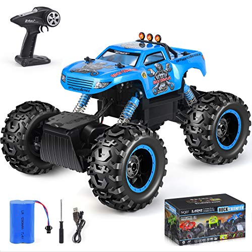 NQD RC Car, Remote Control Monster Trucks 1:12 Big Scale 4WD Off Road Rock Crawlers 2.0Ghz Radio Remote Control Car High Speed Racing All Terrain Climbing Car Gift for Boys