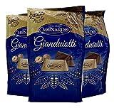 Monardo Gianduiotti Italian Chocolate | Smooth Creamy Milk Chocolate Hazelnut Blend Gianduia 90g | Imported from Italy (3-PACK)