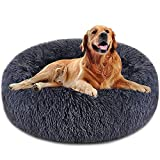 GORDITA Dog Bed Cat Bed Comfortable Donut Cuddler Round Dog Pillow Bed Nest Anti-Slip Faux Fur Pet Bed Ultra Soft Washable Pet Cushion Bed for Dog Cat Joint-Relief and Improved Sleep(32'' x 32'')