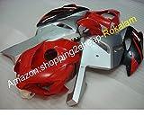 Para 04 05 CBR 1000 RR Fairing 2004 2005 1000RR CBR1000 CBR1000RR rojo plata negro posventa Kit de carenado (moldeo por inyección)