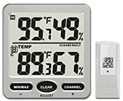 "The WS-70 includes one remote thermo-hygrometer and seven additional sensors can be added (F007TH) for comprehensive monitoring. The uncluttered display console displays temperature and humidity with jumbo 1.25"" LCD characters which can be easily rea..."