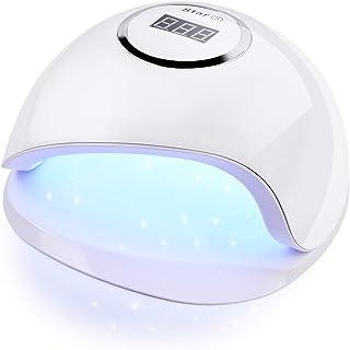 ZHQI-NAIL スター5ネイルドライヤーuvネイルランプ用マニキュアドライネイルドライジェルアイスポリッシュランプ36 led自動センサー10 s 30 s 60 sネイルアートツール (Color : White, Size : Eu plug)