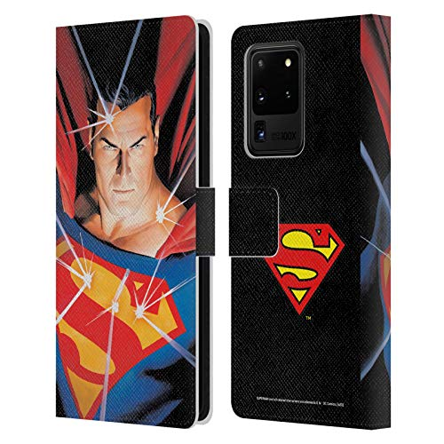 Head Case Designs Officially Licensed Superman DC Comics Alex Ross Mythology Famous Comic Book Covers Leather Book Wallet Case Cover Compatible with Samsung Galaxy S20 Ultra 5G