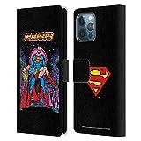 Head Case Designs Licenciado Oficialmente Superman DC Comics Crisis en Tierras Infinitas Fundas de cómics Famosas Carcasa de Cuero Tipo Libro Compatible con Apple iPhone 12 Pro MAX