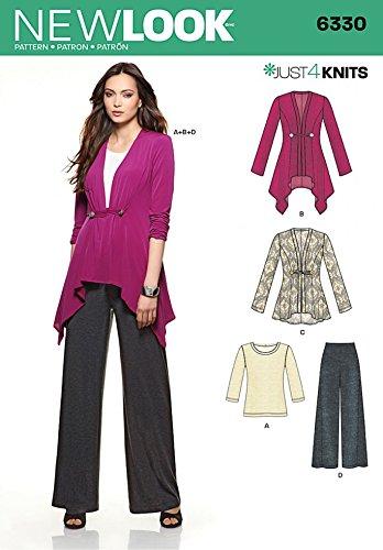 Nieuwe look dames gemakkelijk naaien patroon 6330 stretch gebreide vesten, top & broek