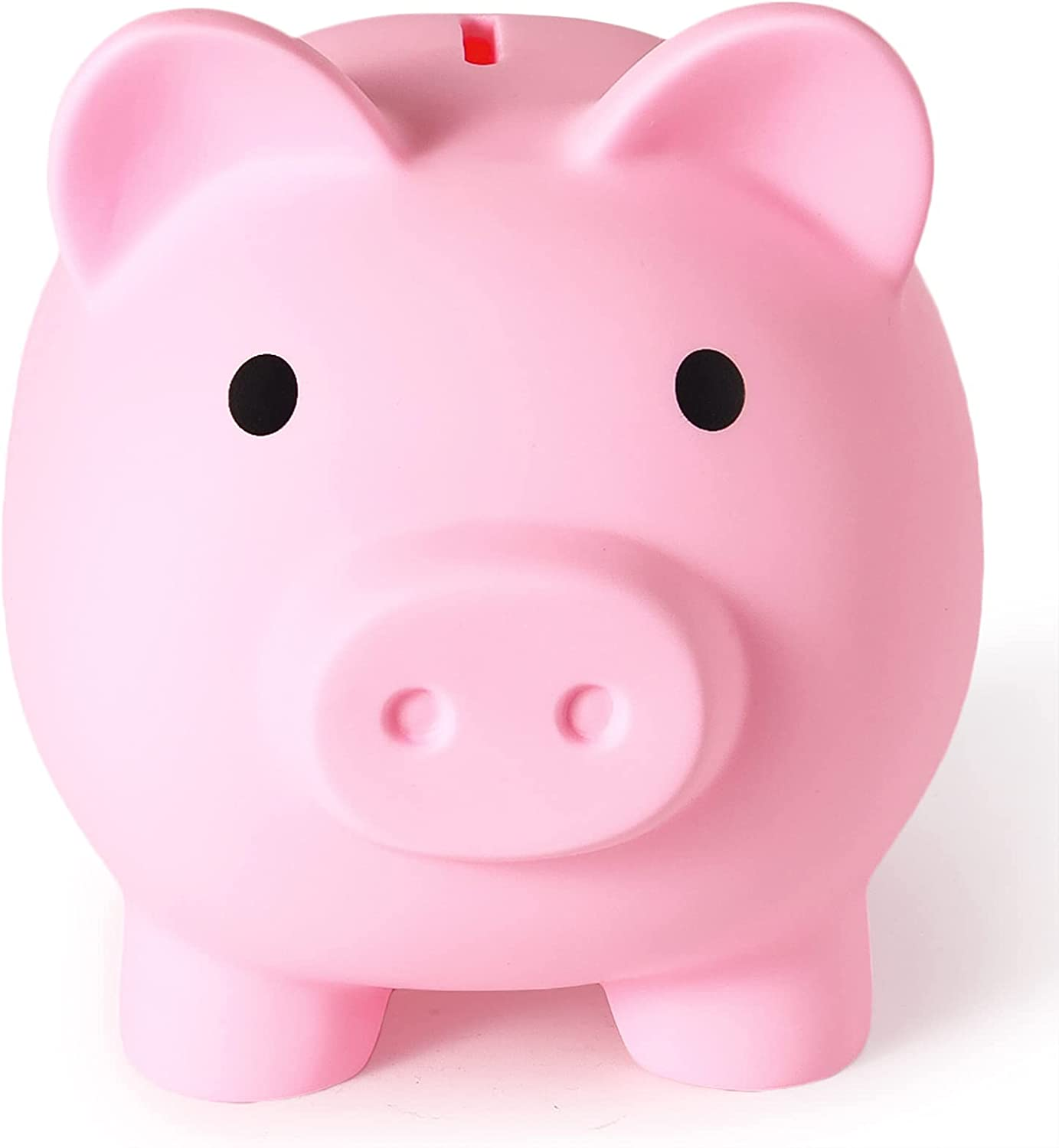 Large Piggy Bank, Unbreakable Plastic Money Bank, Coin Bank for Girls and Boys, Large Size Piggy Banks, Practical Gifts for Birthday, Christmas, Baby Shower (Pink)