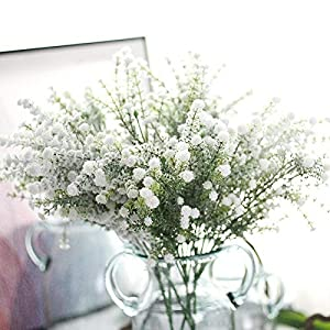 Artificial and Dried Flower Gypsophila Artificial Flower Fake Silk Floral Plant Snow Babysbreath Home Wedding Decoration Party Supplies Christmas
