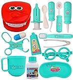 Toyshine Boy's and Girl's Plastic Dentist Doctor Pretend Play Set Toys Medical Kit, Blue, 15 Pcs