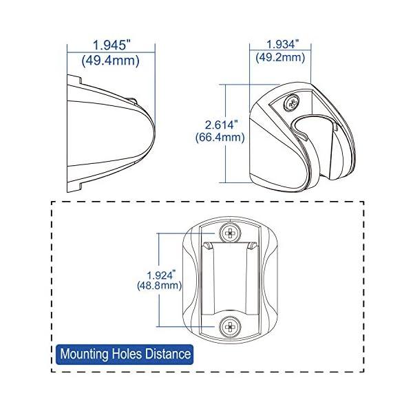 Homewell – Soporte de ducha para cabezal de ducha de mano, de pared, altura ajustable, gran ángulo, para cualquier…