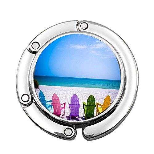 Gancho Plegable Personalizado de la Tabla del Soporte de la suspensión de la Silla de Playa para el Bolso del Monedero, Ganchos del Mon