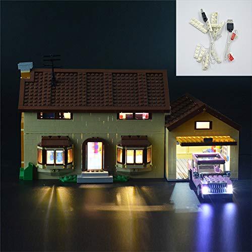 SKLLA Geeignet für Bauklotz Beleuchtung von Simpson House, Kompatibel mit Lego 71006 (Nur Beleuchtung, ohne das Model)