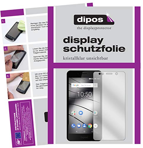 dipos I 2X Schutzfolie klar kompatibel mit Gigaset GS180 Folie Bildschirmschutzfolie