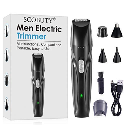 Elektrische Eier Trimmer, Elektrischer Barttrimmer, Nasenhaartrimmer, Nasenhaarschneider, Herren Haarschneider, Körperhaartrimmer, Haarschneidemaschine für Männer, Black