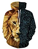 WBYFDC Sudaderas con Capucha De Halloween 3D Lobo Impreso Hombres Otoño Sudadera con Capucha Unisex Casual Streetwear Chaqueta Chándales Tops Sueltos para Mujeres