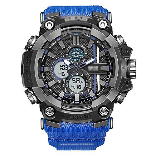 SXXYTCWL ES Mens Digital Deportes, Casual Reloj electrónico for los Hombres, Números Grandes 50m Impermeable de diseño Simple, con el Despertador, Luminoso G jianyou (Color : B)