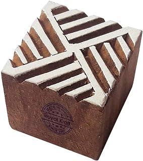 طوابع خشبية مربعة للطباعة بالكتل TC, خشب, بني, TCtag002