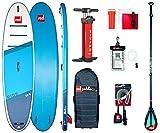 Red Paddle Unisex– Erwachsene 10'6″ Ride MSL + Carbon 50 Nylon Tabelle Sup Und Paddle, Mehrfarbig, Uni