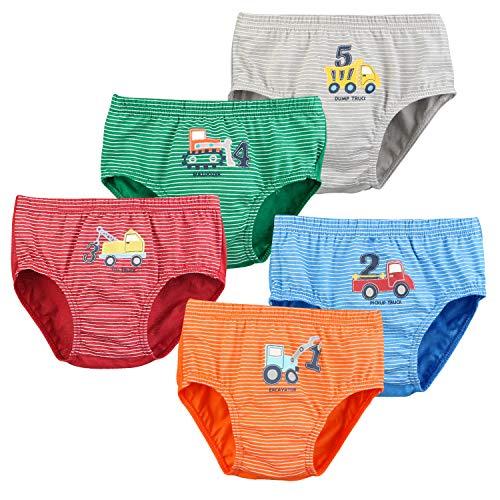 Auranso Boys Underwear Toddler Boxer Briefs Striped Car Truck Pattern Boy...