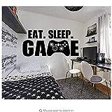 Pegatina amarga Eat Sleep Game Pegatinas de pared Decoración para el hogar Dormitorio Vinilo extraíble Aplique de pared Habitación juvenil Producto de póster 118X70cm