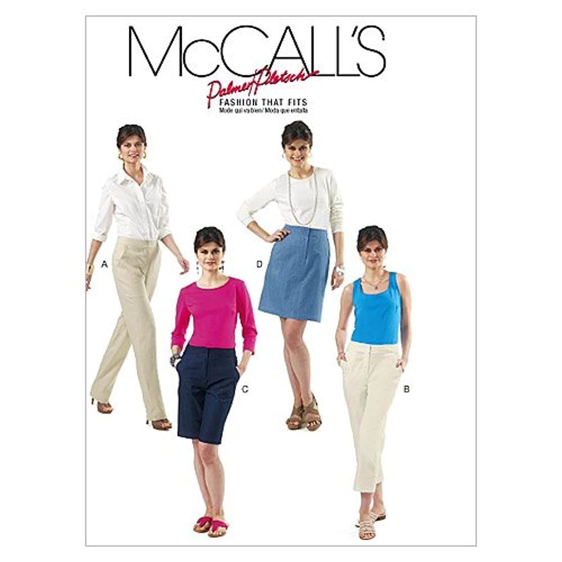 McCall's Patterns M6361 Misses' Skirt, Shorts and Pants in 2 Lengths, Size FF (16-18-20-22)