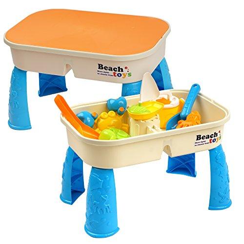 Niños Mesa para Arena y Agua con Tapa -...